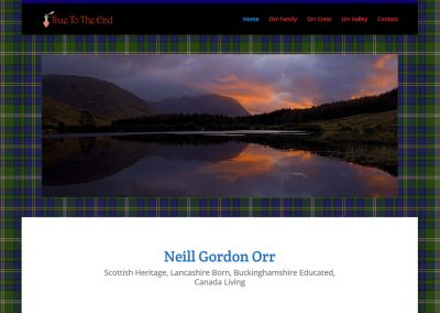 Neill Orr Family Website