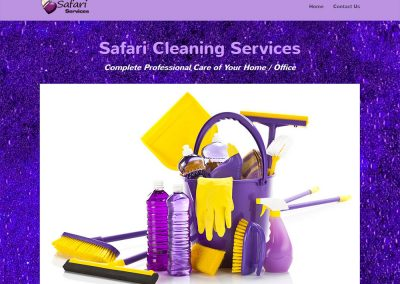 Safari Cleaning Services Website