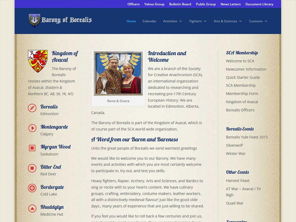 Borealis Website
