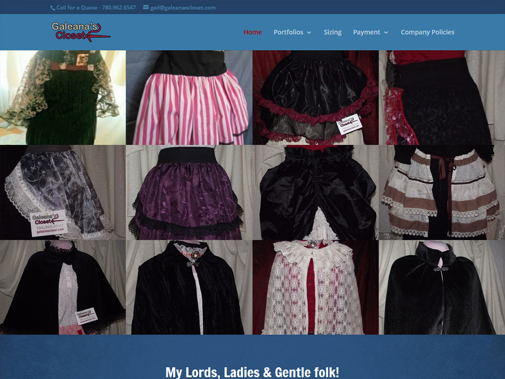 Galeana's Closet Website