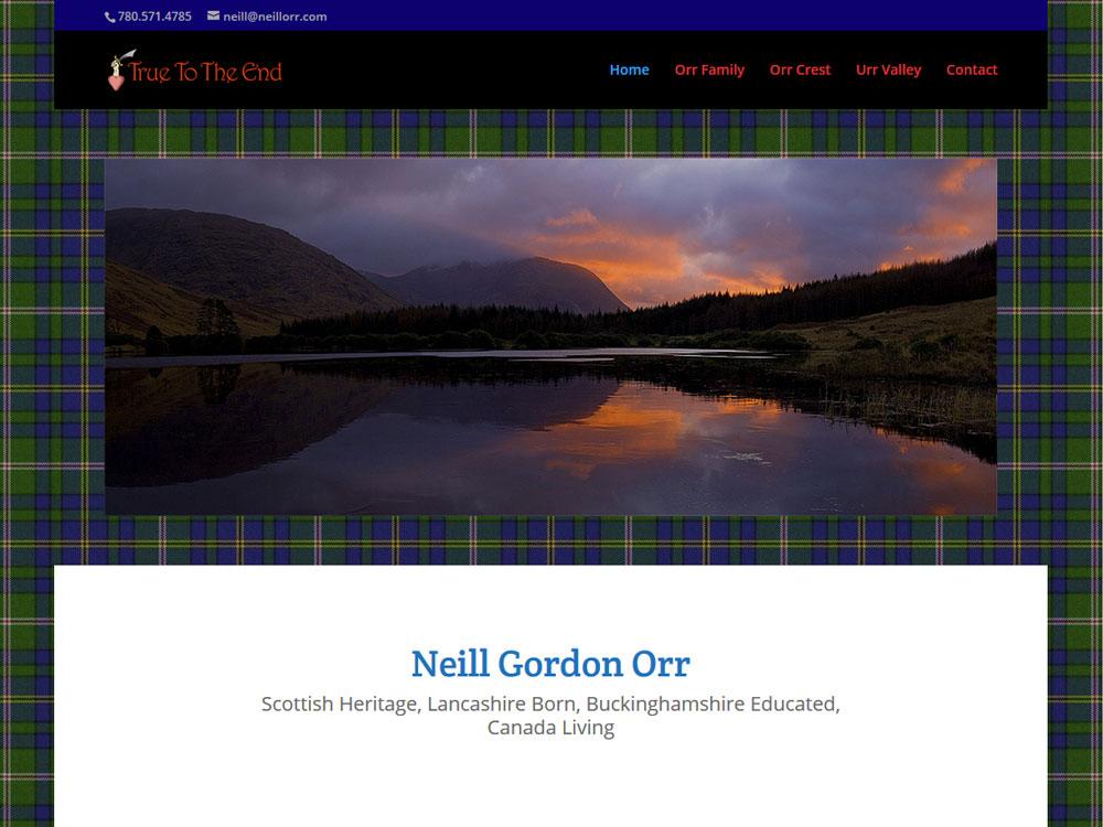 Neill Orr Family Website