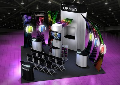 Ormed Rainbow Booth Concept - 20x20 Configuration